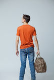 Male with bag Royalty Free Stock Photography