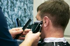 Free Male Barber At Work Stock Images - 5915474