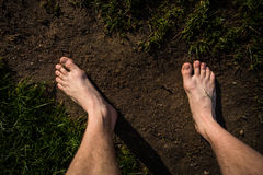 Free Male Bare Feet On The Way Stock Images - 40043474