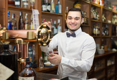 Male bartender in modern bar Stock Photography