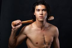 Male baseballer Royalty Free Stock Photography