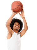Male basketball player shooting Stock Image
