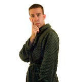 Male Bathrobe Stock Photos