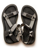 Male beach sandals on white background. Closeup Royalty Free Stock Photos