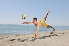 Male beach volleyball game player Royalty Free Stock Photography