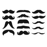 Male Beards Mustache Silhouettes Drawing Royalty Free Stock Images
