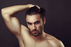 Male beauty portrait Stock Photos