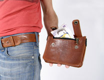 Male belt bags pouches Royalty Free Stock Photography