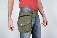 Male belt bags pouches Royalty Free Stock Photos