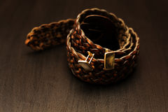 Male  belt with cuff Royalty Free Stock Images