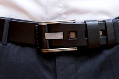 Male belt for trousers Royalty Free Stock Photography