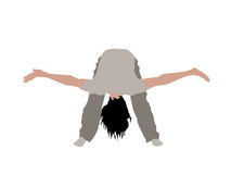 Male bending down with palms up Royalty Free Stock Images