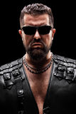 Male biker with sunglasses Royalty Free Stock Photography