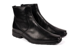 Male black boots Royalty Free Stock Images