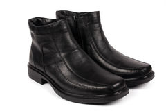 Male black boots Stock Photography