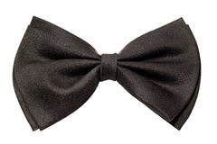 Male black bow tie Royalty Free Stock Image