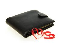 Male black purse Royalty Free Stock Images