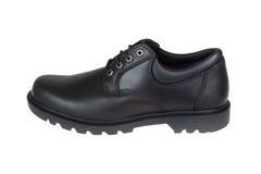 Male black shoe isolated on white Stock Photo