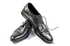 Male black shoes  Royalty Free Stock Photography