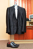 Male black suit Royalty Free Stock Photography