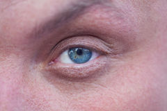 Male blue eye Royalty Free Stock Photo