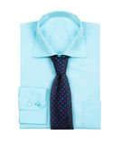 Male blue shirt isolated on white Stock Image
