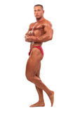 Male body builder demonstrating pose, isolated Stock Image