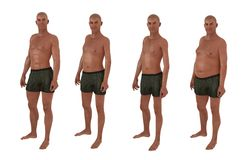 Male body shape diversity Stock Images
