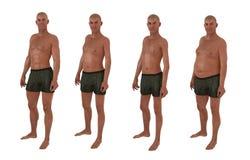 Male body shape diversity Stock Images