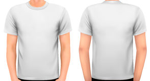 A male body with a white shirt on. stock illustration