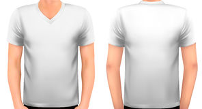 A male body with a white shirt on. Stock Images