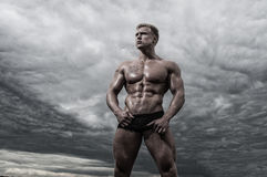 Male bodybuilder Stock Photo
