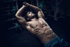 Male bodybuilder, fitness model Royalty Free Stock Image