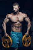 Male bodybuilder, fitness model Royalty Free Stock Photography