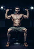 Male bodybuilder, fitness model Royalty Free Stock Image