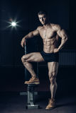Male bodybuilder, fitness model Stock Photos