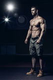 Male bodybuilder, fitness model Stock Images