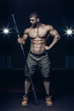 Male bodybuilder, fitness model Royalty Free Stock Images