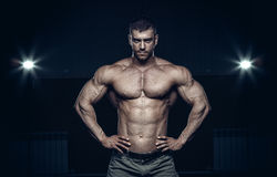 Male bodybuilder, fitness model Royalty Free Stock Photo