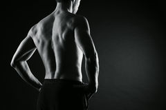 Male bodybuilder model Stock Photo
