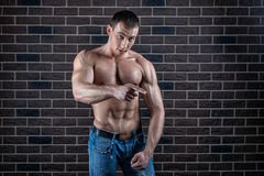 Male bodybuilder Royalty Free Stock Image