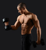 Male bodybuilder posing in studio Stock Image