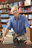 Male bookshop proprietor Stock Photos