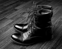Male boots Royalty Free Stock Photography