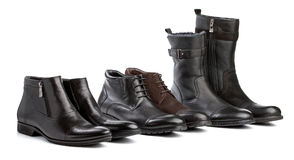 Male boots over white Royalty Free Stock Photos