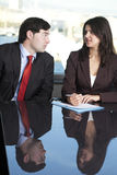 Male boss with his secretary Stock Images