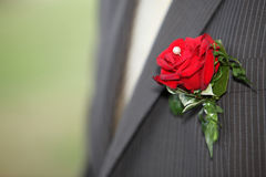 Male bouquet on wedding day Stock Photo
