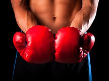 Male boxer Royalty Free Stock Photo