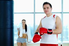 Male boxer Stock Photo