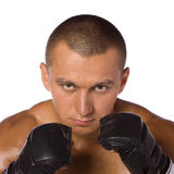 Male boxer, a fighter. Sports. Stock Photo